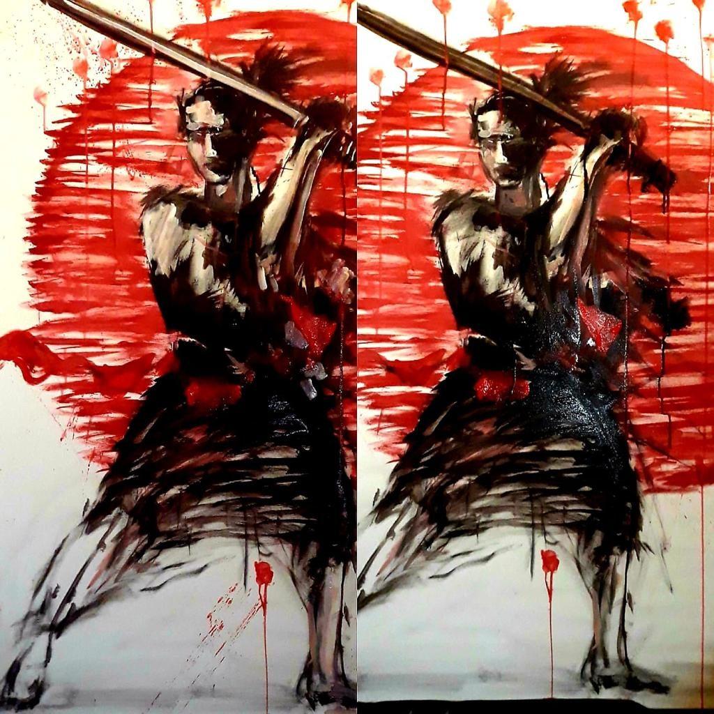 Cafenea Victoriei sector 1 - U Cafe - Bogdana M. Daradici arta tablou samurai