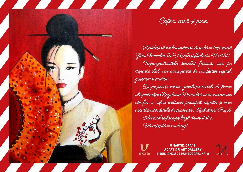 Cafenea Victoriei sector 1 - eveniment U CAFE & U Art Gallery - Cafea, arta si pian, afis martie a